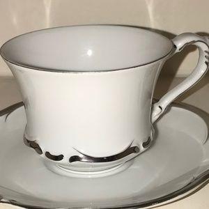 Harmony House Starlight White Platinum Tea Cup